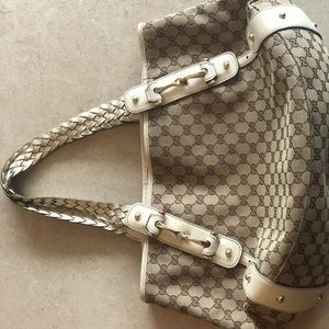 Extra large authentic Gucci satchel bag